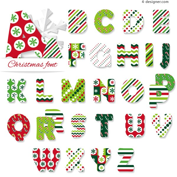 Creative Christmas alphabet