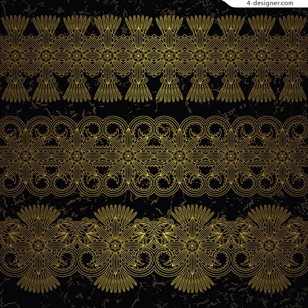 Decorative elements of golden pattern