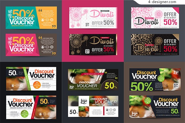 Discount promotional banners