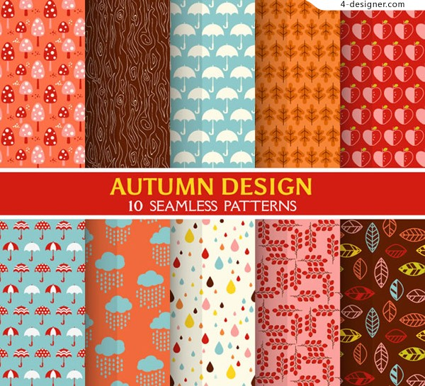 Fall style seamless background