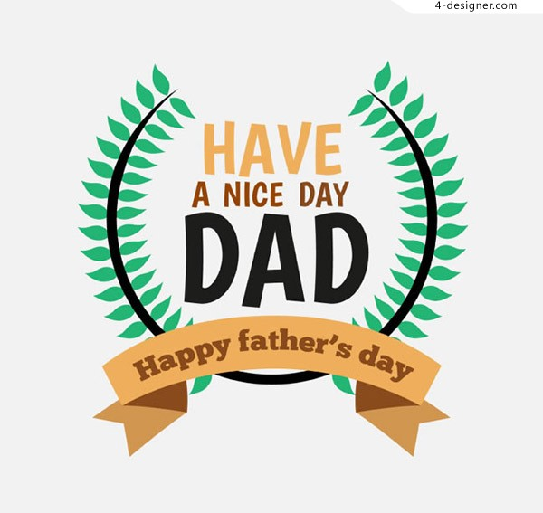 Father s Day card vector