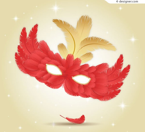 Feather mask design vector