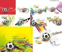 Football and colorful background