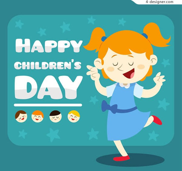 Girl children s Day card