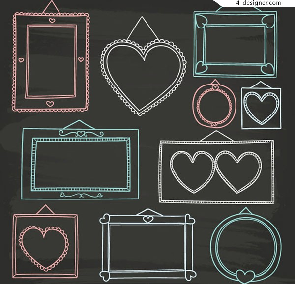 Hand painted frame vector