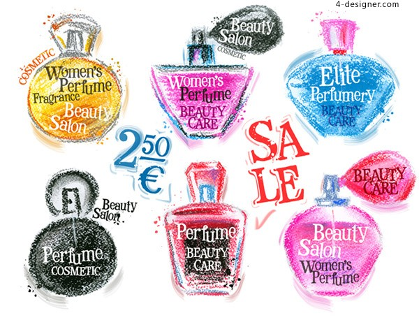 Hand painted perfume promotional posters
