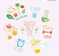 Healthy life illustration