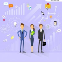 Illustration for business people