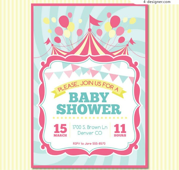 Invitation poster for baby party