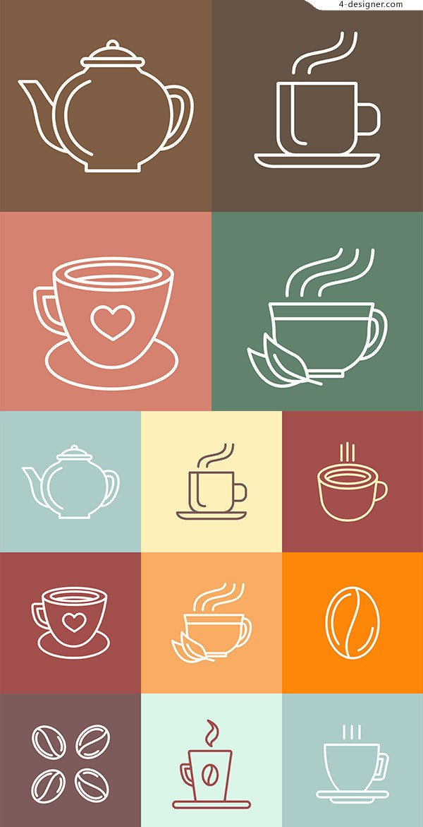 Linear Coffee Icon