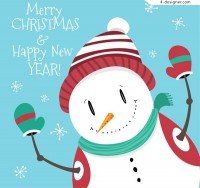 Lovely Snowman design vector