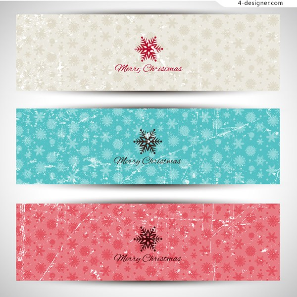 Make old snowflake banner