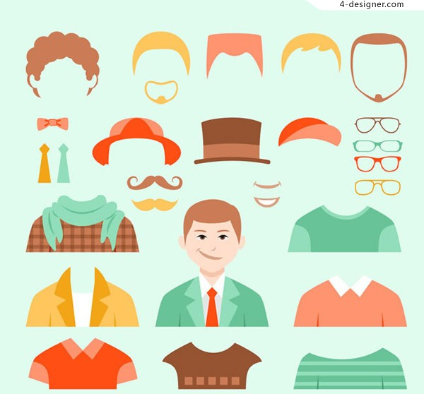 Man dressed element vector