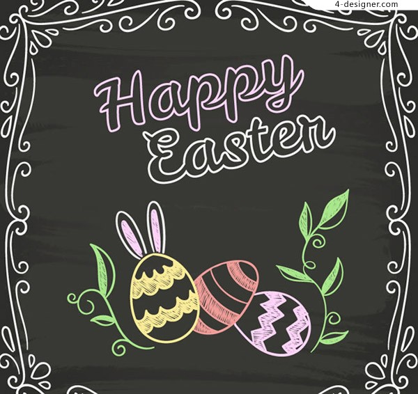 Painted Easter card vector