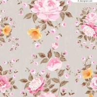 Peony seamless background vector