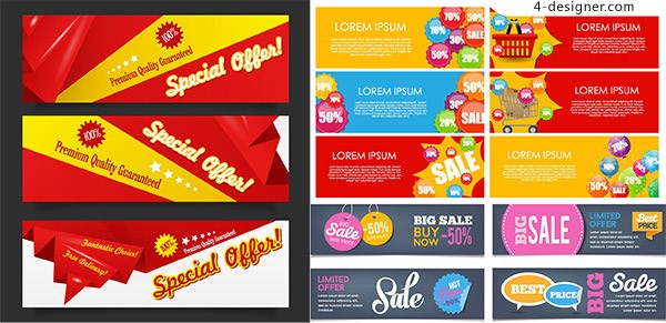 Promotional scroll vector