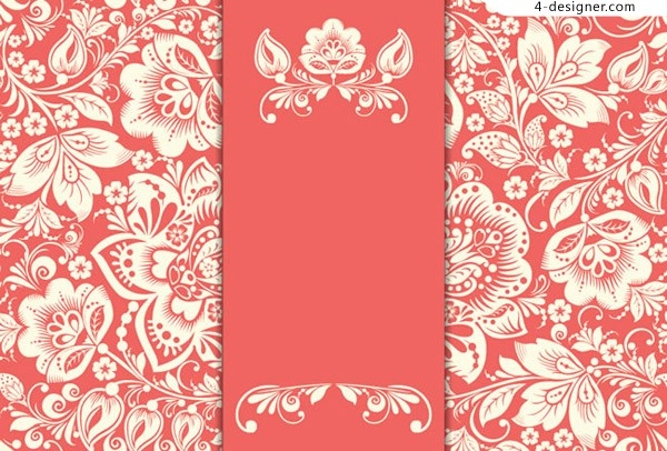 Red card with white flowers