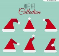 Red christmas hat vector