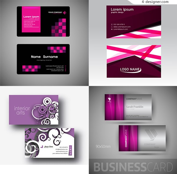 Red concise business card