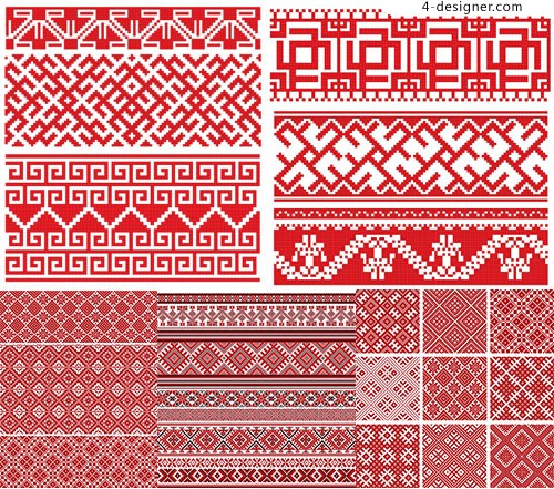 Red woven seamless background