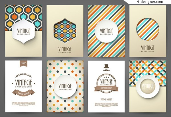 Retro pattern cards