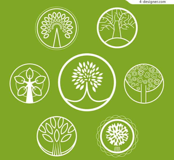 Round Abstract Tree Icon