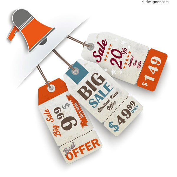 Sales promotion horn and tag