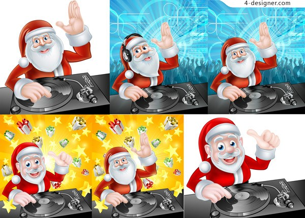 Santa Claus and DJ