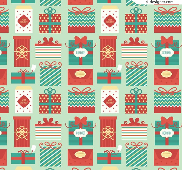 Seamless background of holiday packs