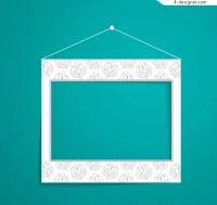 Suspended paper photo frame