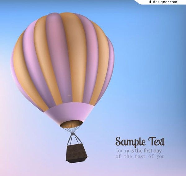Text background of hot air balloon