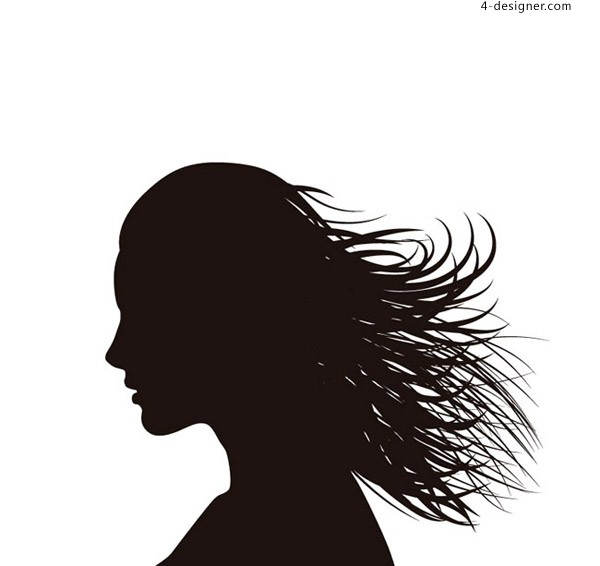 The woman s hair profile silhouette