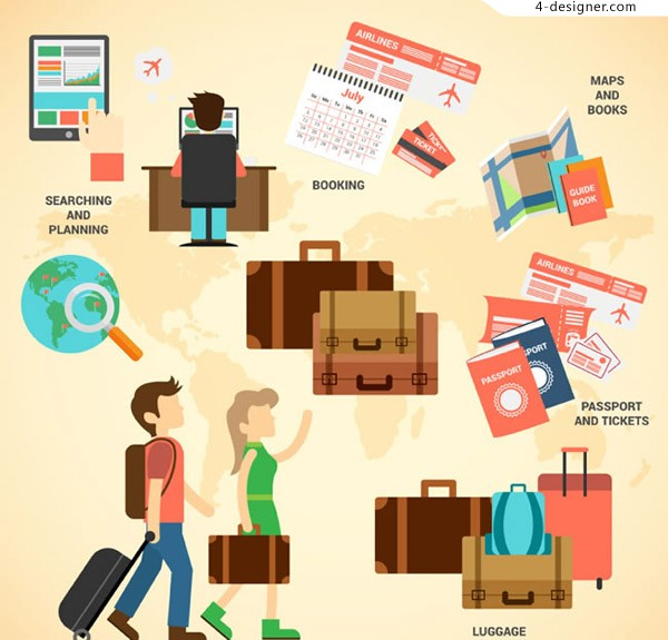 Travel information graph vector