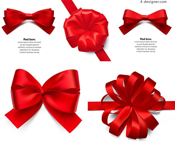 Vector red bow knot