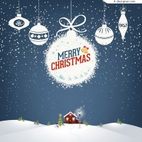 White Christmas ornaments cards