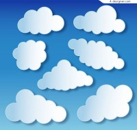 White paper cloud vector