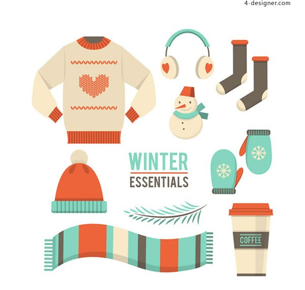 Winter clothing items