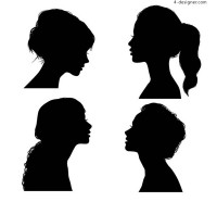 Women face silhouettes
