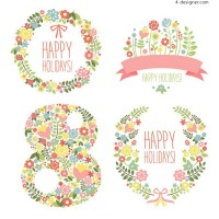 Women s Day tag vector