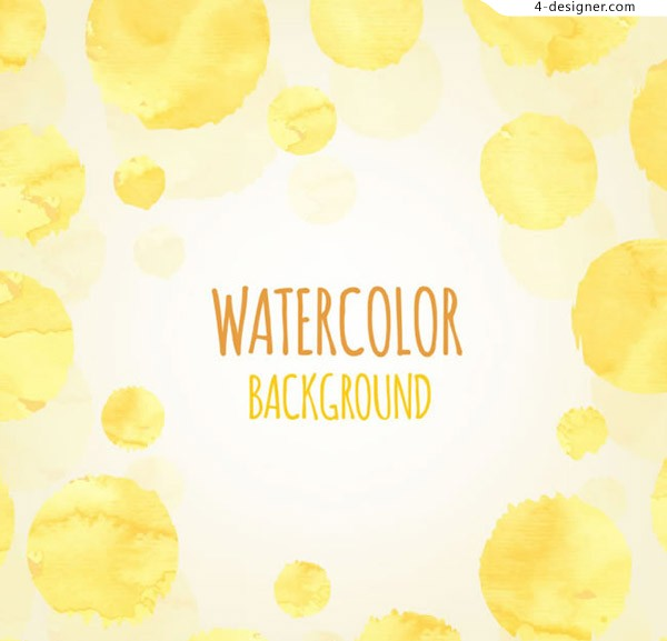 Yellow watercolor dot background