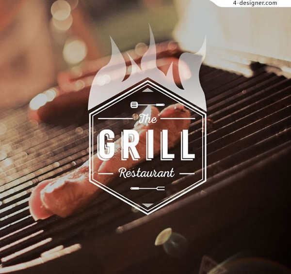 Barbecue food Poster