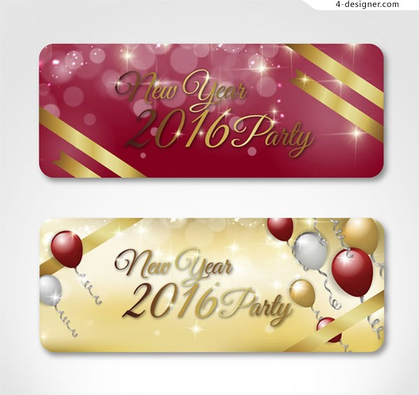 Beautiful New Year party card