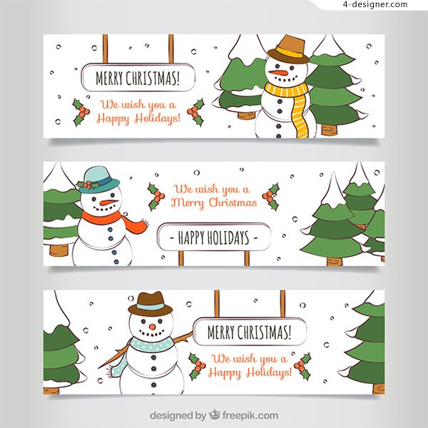 Cartoon christmas BANNERS