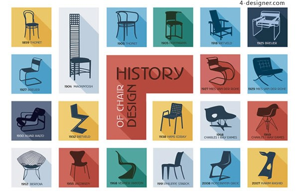 Chair Design History Icon