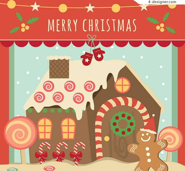 Christmas Candy House card