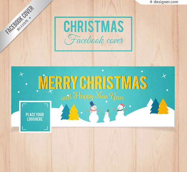 Christmas Snowman face book cover