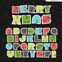 Christmas clip letters
