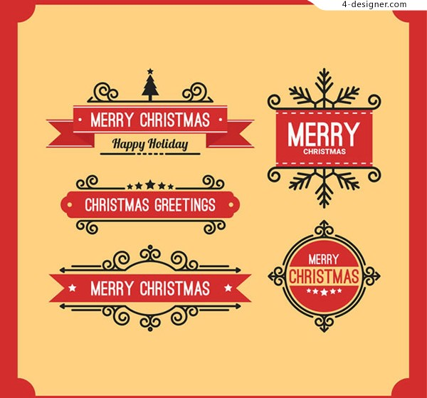 Christmas pattern Tags