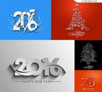 Christmas tree and new year s number