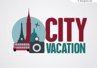 City travel vacation background
